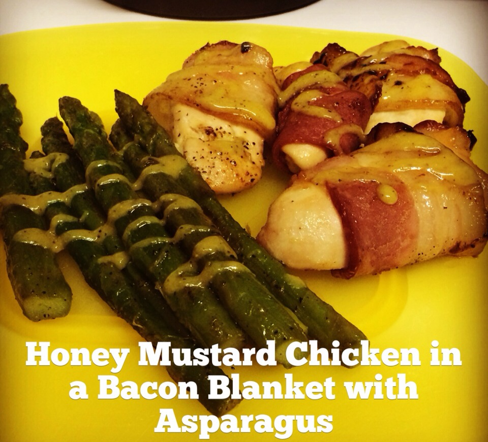 Paleo Honey Mustard Chicken in a Bacon Blanket